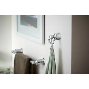 Dartmoor chrome double robe hook