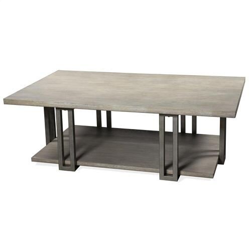 Adelyn - Rectangular Coffee Table - Crema Gray Finish