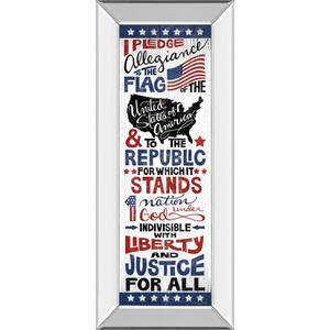 """Pledge Of Allegiance"" By Susan Ball Mirror Framed Print Wall Art"