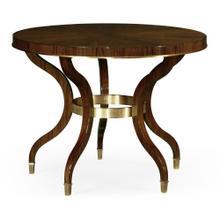 Round Dark Santos & Brass Centre Table