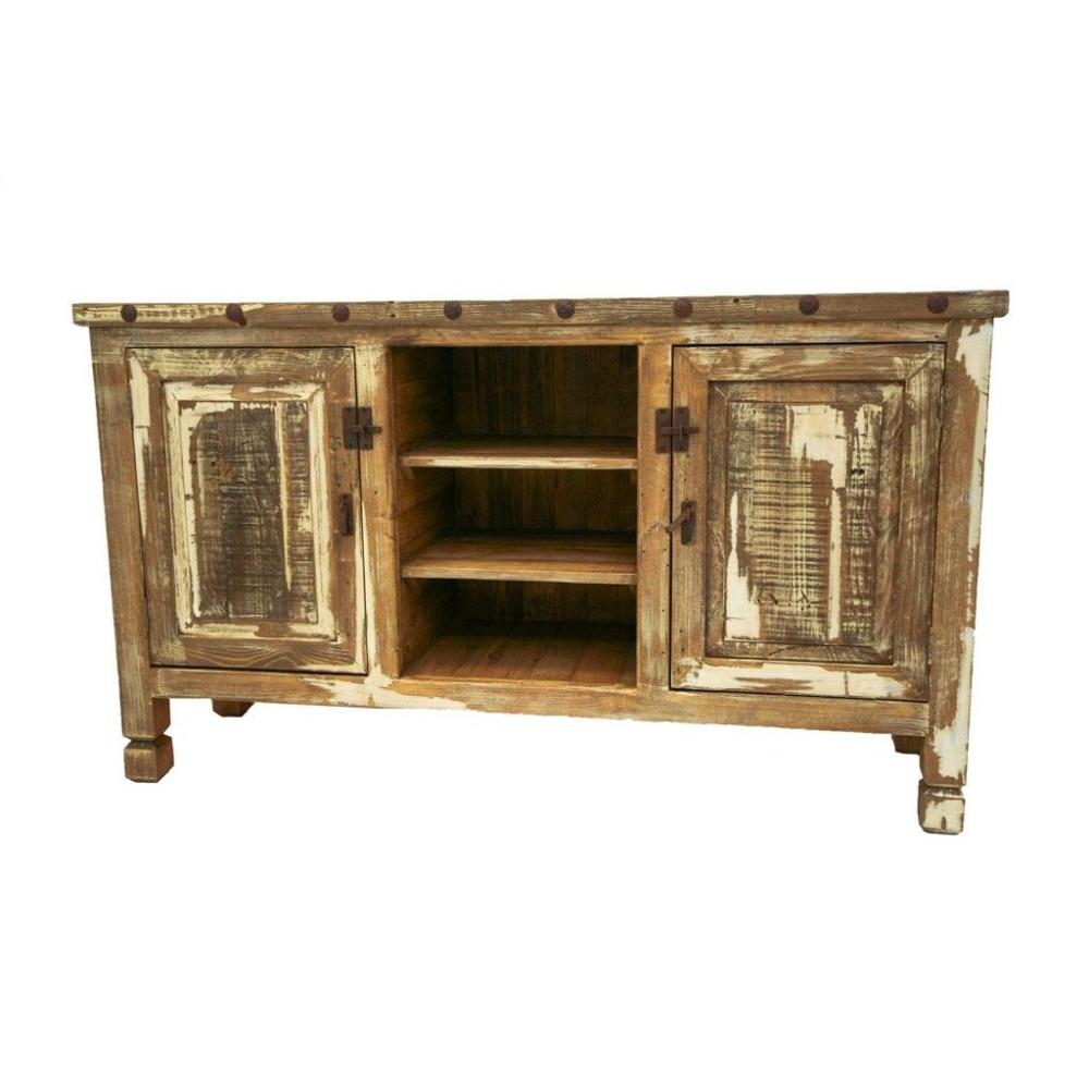See Details - Antique White TV Stand