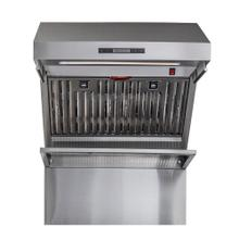 "FORNO 30"" Stainless Steel Range Hood 600 CFM Range Hood With Red Light Warmer / Shelf / Back Splash Baffle Filters"