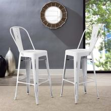Promenade Bar Side Stool in White