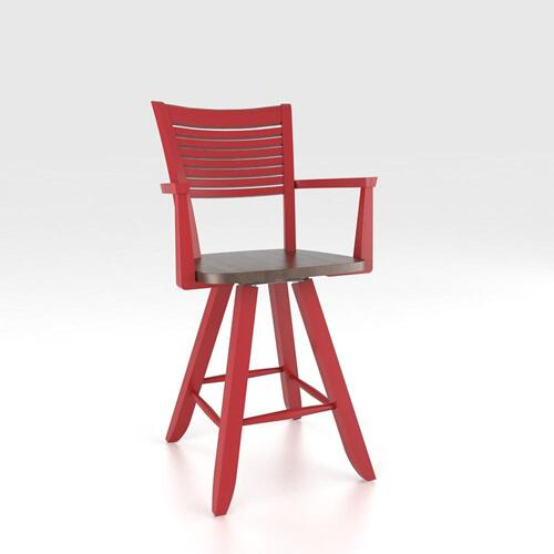 """Canadel - Swivel Barstool 24"""" with arms"""