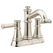 Belfield Polished nickel two-handle high arc bathroom faucet