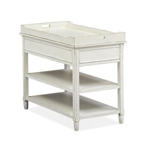 Chairside End Table - White
