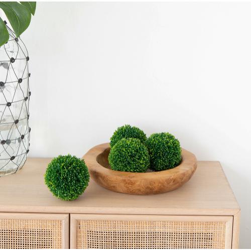 S/3 Boxwood Decorative Spheres