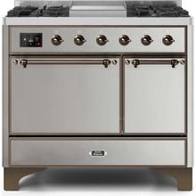 """40"""" Inch Stainless Steel Natural Gas Freestanding Range"""
