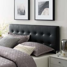 View Product - Emily King Upholstered Vinyl Headboard in Black