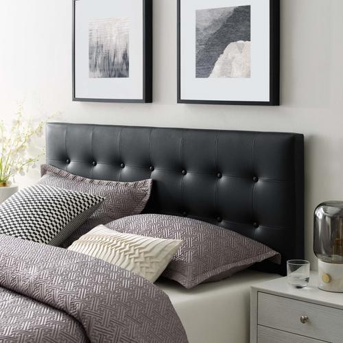 Modway - Emily King Upholstered Vinyl Headboard in Black