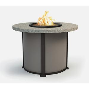"""48"""" Round Balcony Fire Table Ht: 34.5"""" Valero Aluminum Base (Indicate Top, Frame, & Side Panel Color)"""