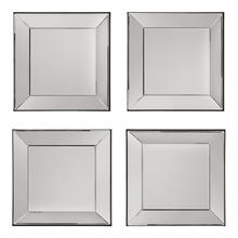 See Details - Time Square 4 PC Wall Mirror Set With Wide Mirrored Frames