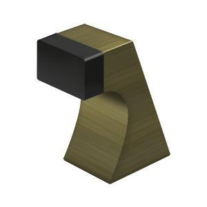 """Floor Door Bumper 2-1/2"""", Contemporary, Solid Brass - Antique Brass"""