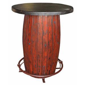 Red Scraped Barrel Bar