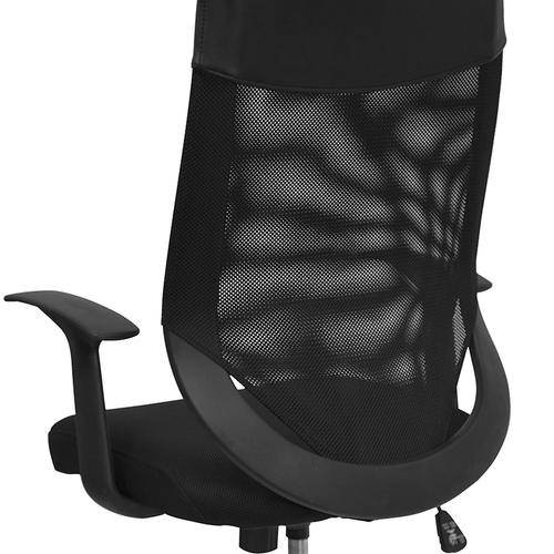 Flash Furniture - High Back Black Mesh Executive Swivel Office Chair with Arms