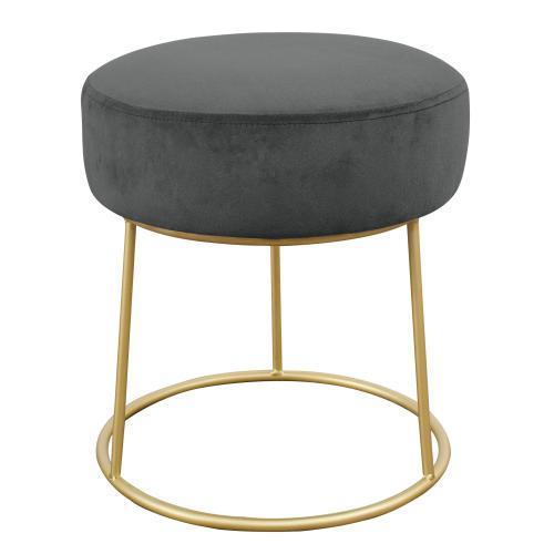 Tov Furniture - Nina Grey Velvet Stool