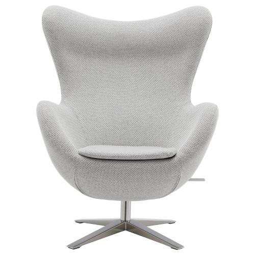Max Fabric Swivel Rocker Chair Chrome Legs, Cardiff Gray
