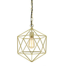 AF Lighting Bellini One-Light Chandelier in Brushed Gold, 9129-1H