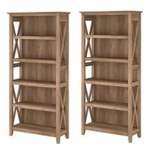 See Details - 5 Shelf Bookcase Set, Reclaimed Pine