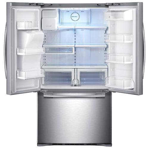 Samsung - REFURBISHED Stainless Steel 29 cu.ft. French Door with Dual Ice Maker. (This is a Stock Photo, actual unit (s) appearance may contain cosmetic blemishes.  Please call store if you would like actual pictures).  This unit carries our 6 month warranty, MANUFACTURER WARRANTY and REBATE NOT VALID with this item. ISI 41210