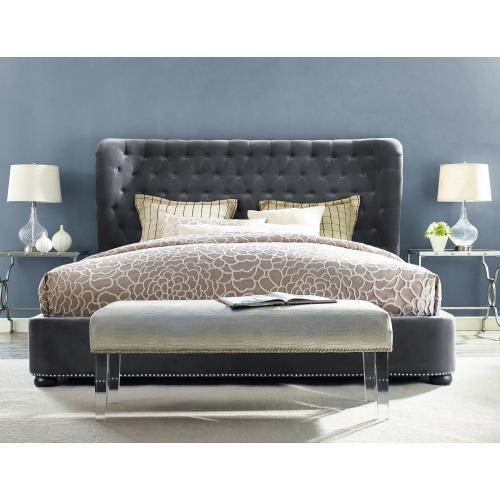 Tov Furniture - Finley Grey Velvet Bed in Queen