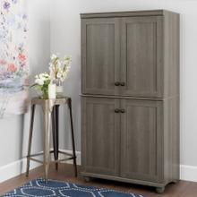 4-Door Storage Armoire - Gray Maple