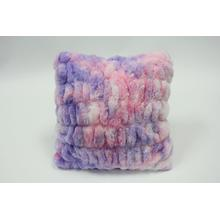 """See Details - Nuevo Faux Fur Pillow Cotton Candy by Rug Factory Plus - 20"""" x 20"""" / Cotton Candy"""