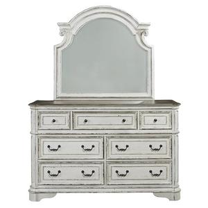 King Uph Sleigh Bed, Dresser & Mirror, Chest