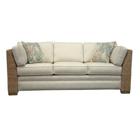 3 over 3 Convo-Lux seat cushions. Sofa arms available in Antique Palm and Banana finish.