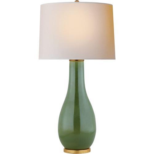 Visual Comfort CHA8655SHK-NP E. F. Chapman Orson 33 inch 150 watt Shellish Kiwi Table Lamp Portable Light