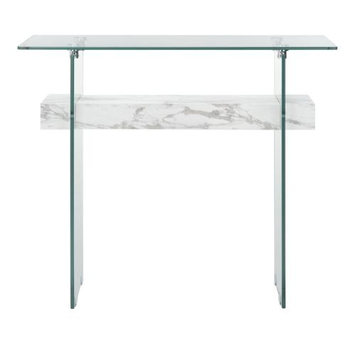 Safavieh - Kayley Console Table - Glass / White