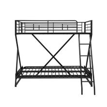 Twin Full Futon Loft Bed, Black