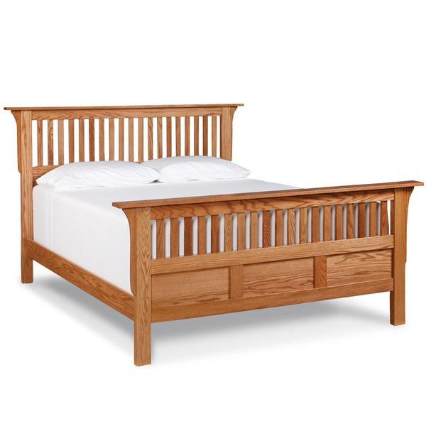 See Details - Mission Paneled Slat Bed, Queen