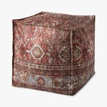 Product Image - PF0006 Red / Multi Poufs