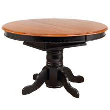 See Details - Pedestal Dining Table w/Butterfly Top - Antique Black with Cherry Finish