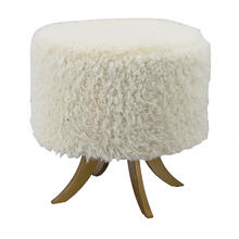 See Details - Shearling Ottoman
