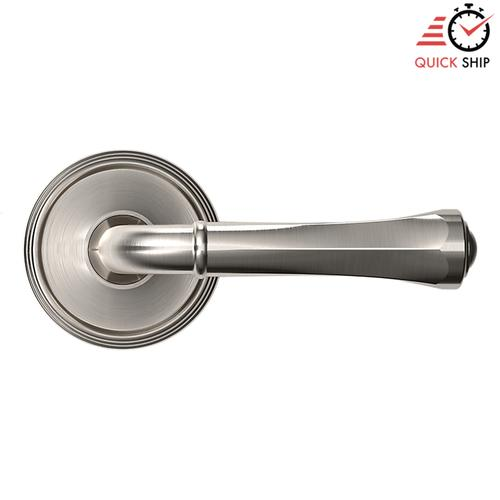 Baldwin - Satin Nickel with Lifetime Finish 5113 Estate Lever with 5078 Rose