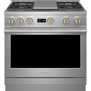 """MONOGRAMMonogram 36"""" All Gas Professional Range with 4 Burners and Griddle (Natural Gas)"""