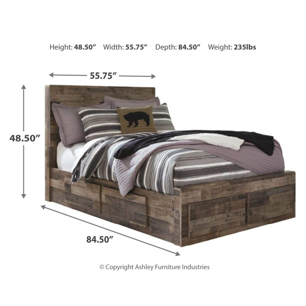 Product Image - Derekson Full Panel Bed With 6 Storage Drawers