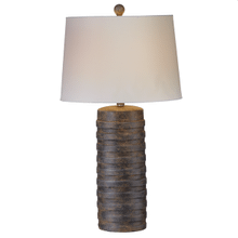 Horizontal Ribbed Stone Finish Table Lamp with Bulb. 100W Max. 3 Way Switch.(161098) (2 pc. assortment)