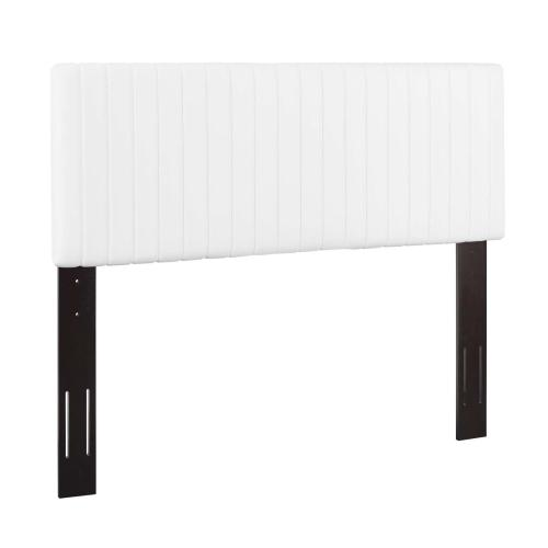 Keira King/California King Faux Leather Headboard in White