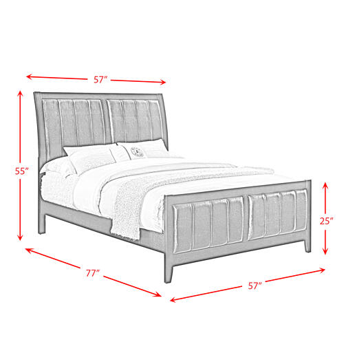Elements - Lawrence Full Panel Bed