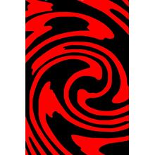 """Vibrant Hand Carved Soft Modern Geo 145 Area Rug by Rug Factory Plus - 5'4"""" x 7'5"""" / Black"""