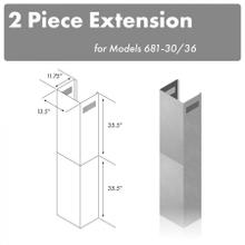 """See Details - ZLINE 71"""" Extended Chimney (2PCEXT-681-30/36)"""