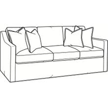 Oliver 3 over 3 Sofa with Slipcover