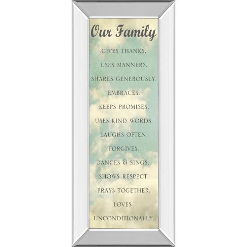 """""""Our Family"""" By Sarah Gardner Mirror Framed Print Wall Art"""