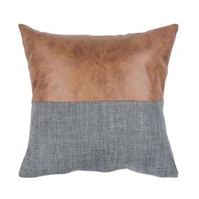 Parson Pillow - Blue / Brown