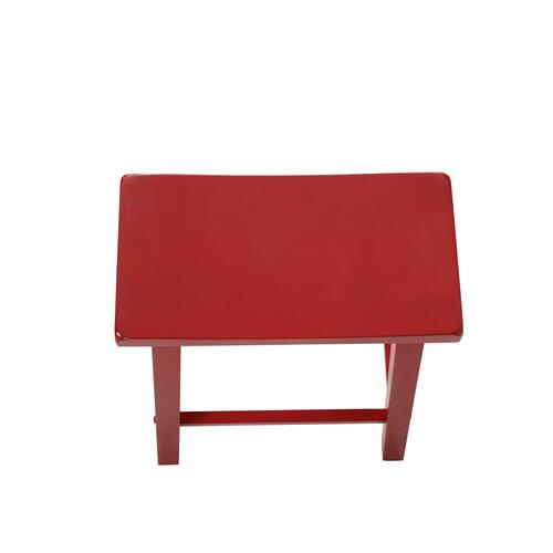 Saddle Seat Counter Stool, Crimson Red