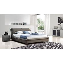 Modrest B1320 Modern Grey Bonded Leather Bed