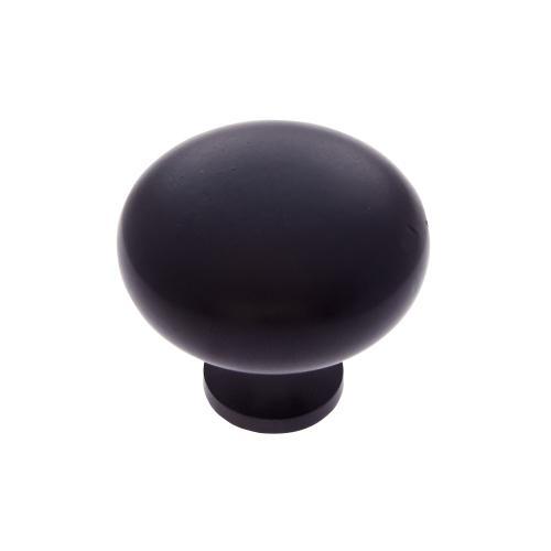 """Matte Black 1-1/4"""" Mushroom Knob"""